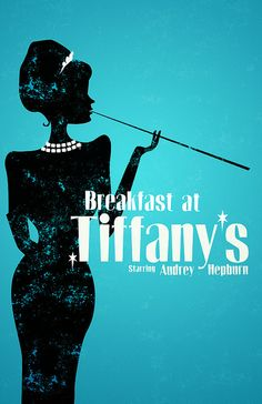 Breakfast at Tiffany's poster, classic movie, audrey hepburn
