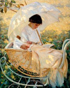 Cassatt, Mary (b,1844)- Woman Reading to Baby