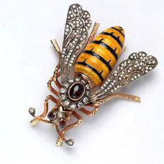 Victorian bee brooch - I love jewelry and gems but I draw the line here! I'm deathly allergic to bees and stinging creatures like them and I can't and won't wear them, however adorned they may are! Gives me the shudders just THINKING of it! No bugs as jewelry for me in general - even some of the dragonfly stuff is creepy!