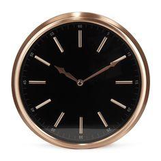 Horloge D29cm coloris noir et cuivre Cuivre - Soy - Les horloges - Horloges et reveils - Toute la déco - Décoration d'intérieur - Alinéa
