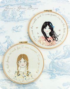 Gracie's Garden Bazaar: Finished 'Summer Wanderings' storybook embroideries