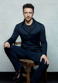 James McAvoy - seems like Hiddleston's not the only one who sits like a whore.