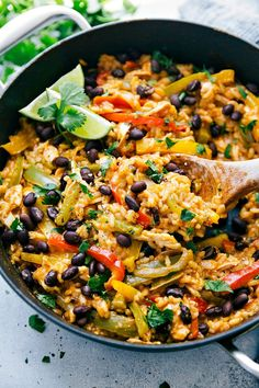 This one pot dish tastes just like fajitas without the tortilla! This meal takes less than 30 minutes, is all made in one pot, and is full of flavor while keeping the ingredients to a minimum.     5 from 2 votes Print One Pot Chicken, Rice, and Veggie Fajita Bowls Author: Chelsea Ingredients 2...