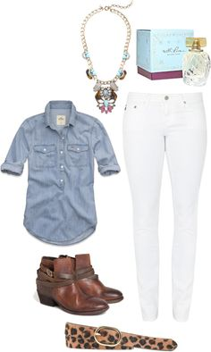 fall outfit... No leopard belt and different boots..... Could be cute.