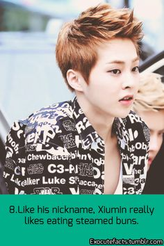 EXO FACTS: hahaha baozi likes eating baozis xD wait that can sound wrong.. I have a dirty fanfiction authors mind LOL.