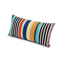 Missoni Home Sumatra Pillow 12X24 ($269) ❤ liked on Polyvore featuring home, home decor, throw pillows, outdoor toss pillows, outdoor home decor, black and white home decor, modern outdoor throw pillows and outdoor throw pillows