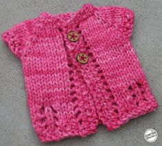 Need a one-hour project with a great payoff? The free pattern for the Wee Sweet Cardi creates a cute, cozy baby sweater in about an hour, so you can keep a special little someone comfy.