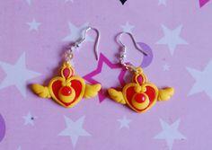 Sailor Moon handmade polymer clay charm earrings by Akindoonline