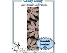 Bead Pattern LoomBracelet CuffOpposites Attract by LoomTomb