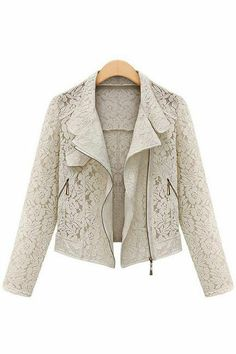 Openwork lace cardigan jacket_Jackets_CLOTHING_Voguec Shop