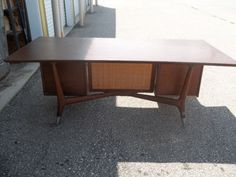 A stunning executive desk that exudes confidence & style. Beautiful from every angle.