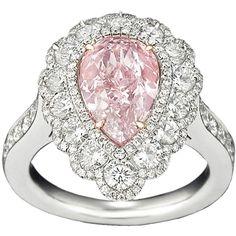Natural Fancy Purplish Pink Diamond Ring, 2.58 Carats ❤ liked on Polyvore
