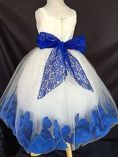 Flower Girl Bridesmaids Elegant Wedding Summer Spaghetti Girl Dress in Clothing, Shoes & Accessories, Wedding & Formal Occasion, Bridesmaids' & Formal Dresses Royal Blue Bridesmaid Dresses, Blue Wedding Dresses, Wedding Colors, Wedding Ideas, Wedding Flowers, Wedding Bridesmaids, Blue Flower Girl Dresses, Wedding Details, Royal Blue Wedding Decorations