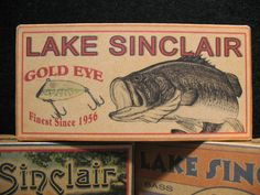 Fishing lure boxes of Lake Sinclair
