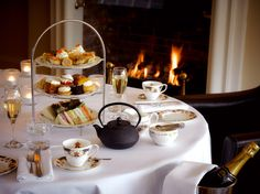 Treat yourself to afternoon tea at The Angel Hotel in Abergavenny