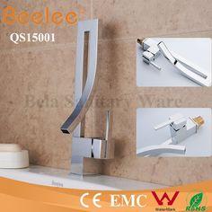 Modern Wall Mounted Kitchen Mixer Water Tap Bathroom Brass Taps ...