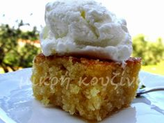 μικρή κουζίνα: Ρεβανί Βέροιας Cornbread, Recipies, Cooking Recipes, Sweets, Ethnic Recipes, Desserts, Food, Greek, Pie