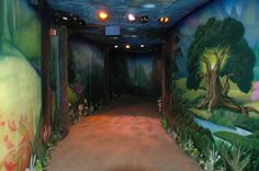 I tagged along with Teresa and her family today to see the Disney Fairies at Magic Kingdom in Walt Disney World. Forest Room, Forest Mural, Ceiling Murals, Wall Murals, Fairy Tale Theme, Fairy Tales, Attraction World, Fairy Room, Disney Bedrooms