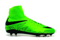 2015 Nike Hypervenom 2 Football Boot FG Green Black