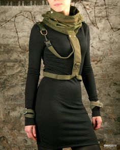 Military harness/cowl by ShtrafBat