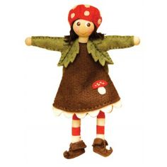 Mari Mushroom Girl - Forest Gnomie Tomten Catalog