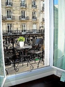 Enjoy Your Breakfast Croissant And Coffee on Your Paris Balcony! Loved having a balcony.