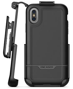 iPhone X Belt Case w/ Screen Protector, Encased [Rebel Series] Rugged Tough Case with Secure Clip Holster for Apple iPhoneX (2017 Release) Military Spec Armor Protection (Smooth Black) #iPhone #Belt #Case #Screen #Protector, #Encased #[Rebel #Series] #Rugged #Tough #with #Secure #Clip #Holster #Apple #iPhoneX #Release) #Military #Spec #Armor #Protection #(Smooth #Black)