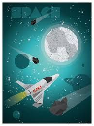 Image result for space travel poster