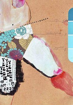 """Saatchi Art Artist Kasia Gawron; Collage, """"panties3"""" #art"""