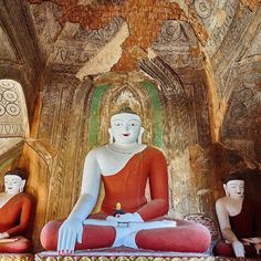Buddhas in the Sulegon group of temples. #travel #travelblogging #temples…
