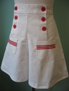 1930's 1940's vintage sailor style shorts CUSTOM S-M