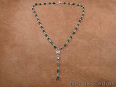 Nuevos collares en mi tienda de #Etsy Gargantilla de plata y malaquita por MardePiedras en Etsy, €50.00