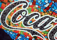 Mosaic Fun – Coca Cola, Art Car, Oscar the Grouch & Fopp? Coca Cola Ad, Always Coca Cola, Mosaic Art, Mosaic Glass, Stained Glass, Oscar The Grouch, Mosaic Projects, Art Projects, Mosaics