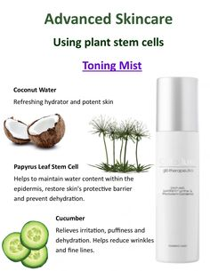 Toning Mist using plant stem cells.