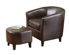 Preston Club Chair and Ottoman Set