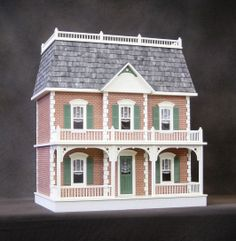 dollhouse with mansard roof | Pre-Bricked Georgetown