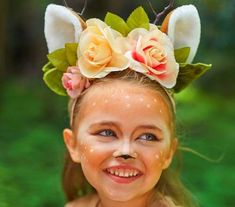 Adorned with whimsical woodland accents like flowers, tulle and luxe faux-fur, this enchanting deer costume is bound to be a pretend play favorite for years to come. Deer Costume For Kids, Little Girl Halloween Costumes, Mom Costumes, Pretty Halloween, Toddler Halloween, Deer Costume Toddler, Couple Costumes, Pirate Costumes, Princess Costumes