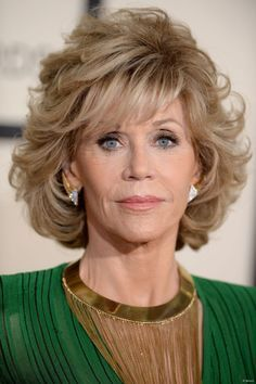 Jane Fonda Blonde Synthetic Hair Wig For Old Ladies Jane Fonda Hairstyles, Hairstyles Over 50, 2015 Hairstyles, Medium Shag Hairstyles, Casual Hairstyles, Hairstyle Ideas, Braided Hairstyles, Medium Hair Styles, Curly Hair Styles
