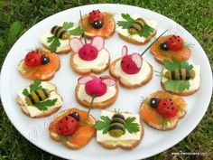 The snacks are too sweet to simply eat them up! - The snacks are too sweet to simply eat them up! Cute Food, Good Food, Yummy Food, Baby Food Recipes, Cooking Recipes, Cooking Tips, Meat Recipes, Snacks Für Party, Party Appetizers