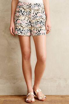 Floral Jacquard Shorts - anthropologie.com