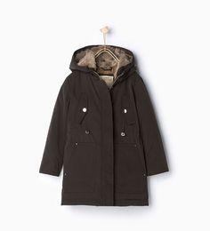 3aa5875449a74 Down parka with hood - Coats - Coats - Girl - Kids