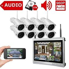 960P Wlan IP Kamera HD 4MP Wifi Überwachungskamera Audio Outdoor PTZ 100-240V DE