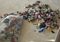 """More from Bonnie Hunter: This time """"Crumbs!"""" Those little bits too small to use become a quilt. Amazing."""