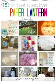 DIY paper lanterns tutorials and best ideas. Decorate paper lanterns with glitter, doilies, paint and more. Decorate kids room, nursery, parties using DIY