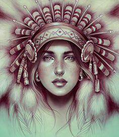 Shandia - Illustration by Marta Adan -  on Behance
