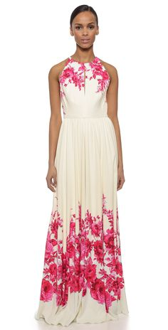 Lela Rose Floral Halter Gown | SHOPBOP SAVE 25% use Code:SPRING25