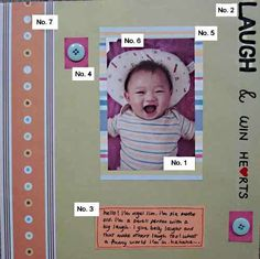 Scrapbooking for beginners, basics of a layout. http://www.everything-about-scrapbooking.com/scrapbooking-layouts.html#