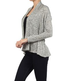 Another great find on #zulily! Heather Gray Sheer Textured Open Duster by Pretty Young Thing #zulilyfinds