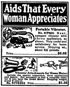 vintage vibrator ad from Sears catalogue...what's weird is that I found one of these about ten years ago at my grandmothers house...lol...hmm