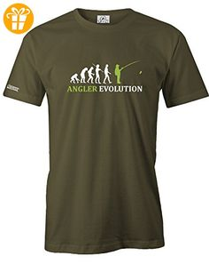 ANGLER EVOLUTION - HERREN - T-SHIRT in Army by Jayess Gr. XXXL (*Partner-Link)
